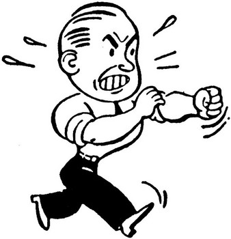Businessman_Rolling_Up_His_Sleeves_To_Fight_Clip_Art_Absolutely_Nn_Fighting!_Poster
